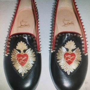 Christian Louboutin Mi Corazon Spiked Flat Loafers